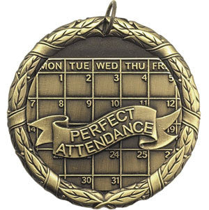 Perfect Attendance Medallion Gold