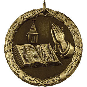 The Open Bible Medallion Gold