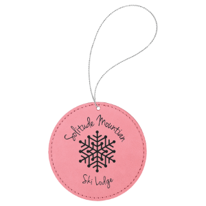 Leatherette Round Ornament