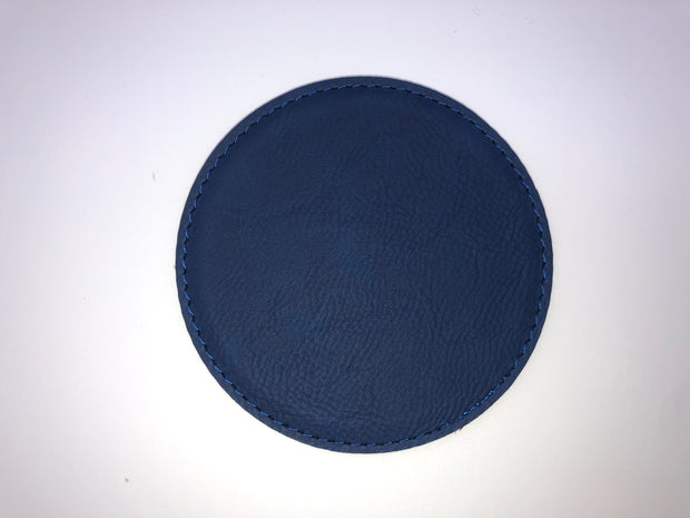 Round Leatherette Coaster Set