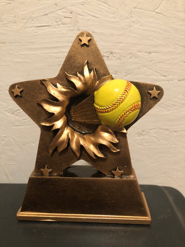 Softball Resin Star