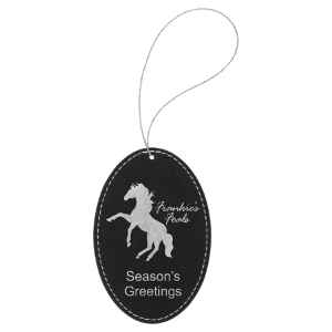 Leatherette Oval Ornament