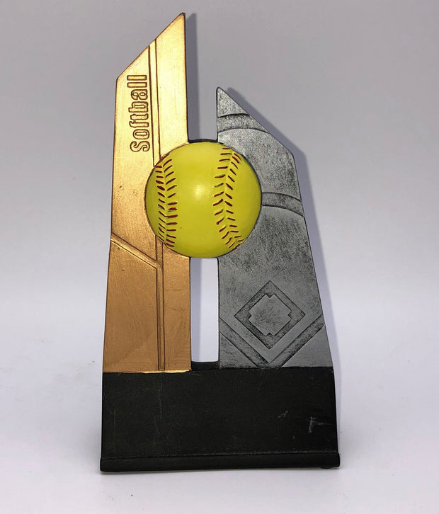 Gold and Silver Softball Trophy
