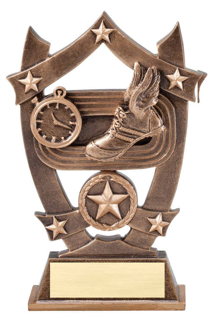 Track Winged Shoe Trophy