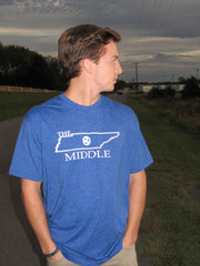 "Royal Blue Short Sleeve ""The Middle Tennessee"" Shirt, Unisex - Women & Men's Wear"