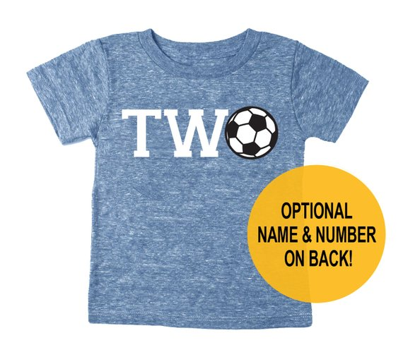 Second 2nd Birthday Two Soccer Tri Blend Toddler 2 T Shirt