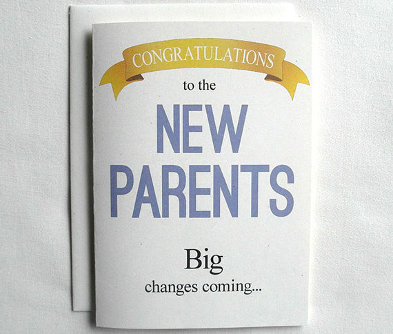new baby card funny congratulations to the new parents