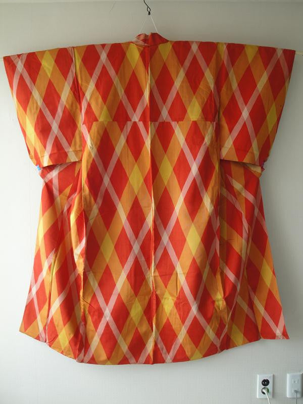 Komon in Vivid Orange Plaid