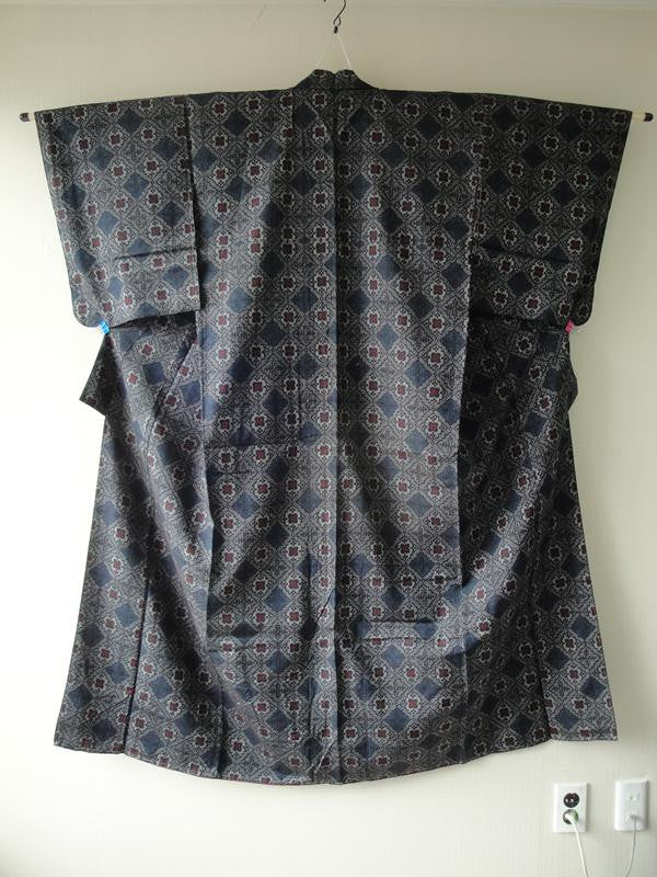Komon in Tsumugi Silk