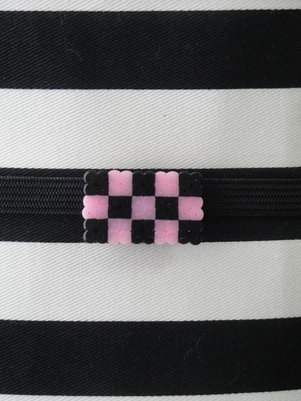 Obidome - Checkers (Black/Pink)