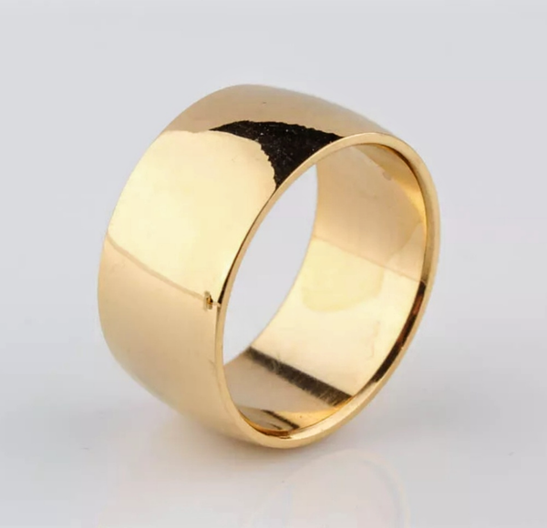 18k 8mm Yellow Gold Band