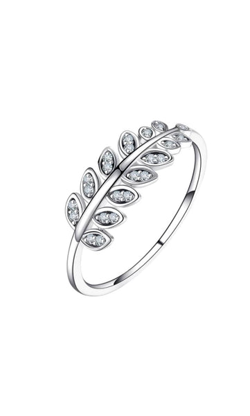 Sterling Silver Leaf Ring 925 Bijoux Dainty Petite
