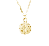 14k Wanderer Wanderlust Compass Necklace