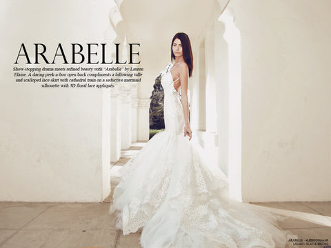 Arabelle wedding gown by lauren elaine bridal lookbook cover