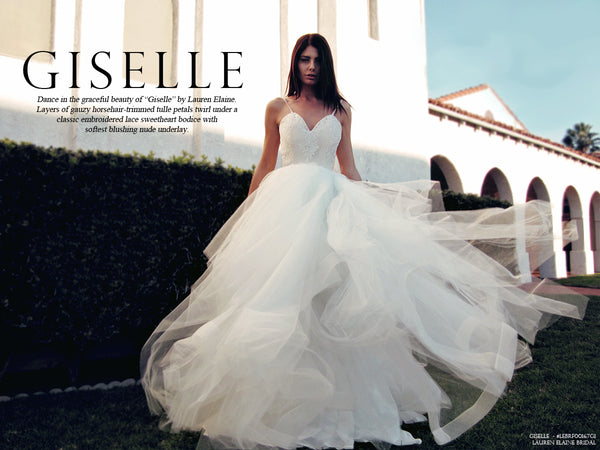 "Lauren Elaine Bridal Look Book for ""Giselle"" wedding gown"