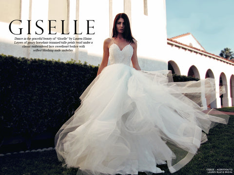 Giselle by lauren elaine bridal look book cover