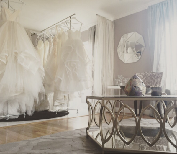 Interior of the Lauren Elaine Style House Wedding Salon in Los Angeles
