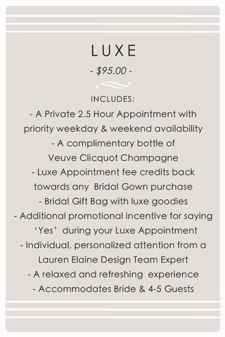 Lauren Elaine Style House Luxe Bridal Salon Appointments in Los Angeles, California