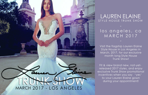 Los Angeles Bridal Salons Wedding Dresses & Trunk Shows Lauren Elaine Style House