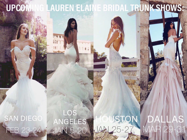 Lauren Elaine Bridal Upcoming 2019 Trunk Shows