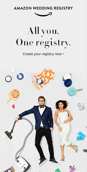 Create your Amazon Wedding Registry