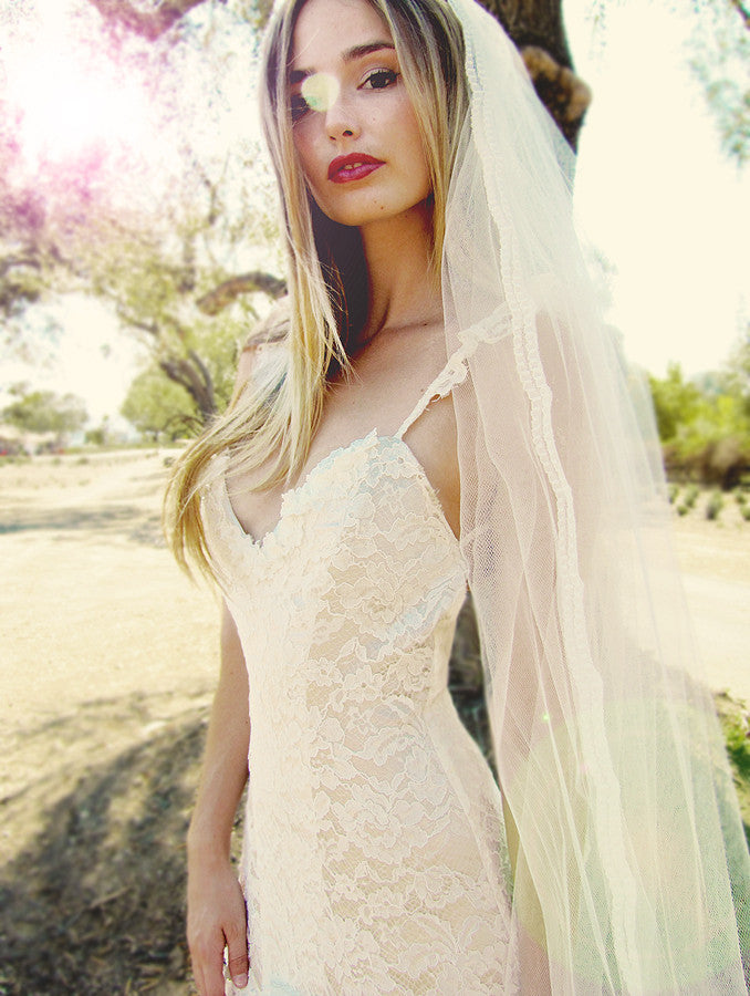 Aislin mermaid wedding gown by Lauren Elaine.