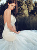 Arabelle illusion lace designer couture wedding dress by Lauren Elaine