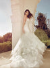 Fairytale mermaid wedding gown with cathedral tulle and lace train by Lauren Elaine Bridal