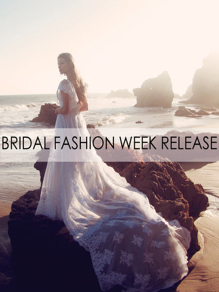 """Astoria"" wedding gown by Lauren Elaine Bridal for Bridal Fashion Week Spring/Summer 2017"