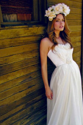 Made in the USA. Eco-friendly bridal gowns. Bohemian bridal gowns.
