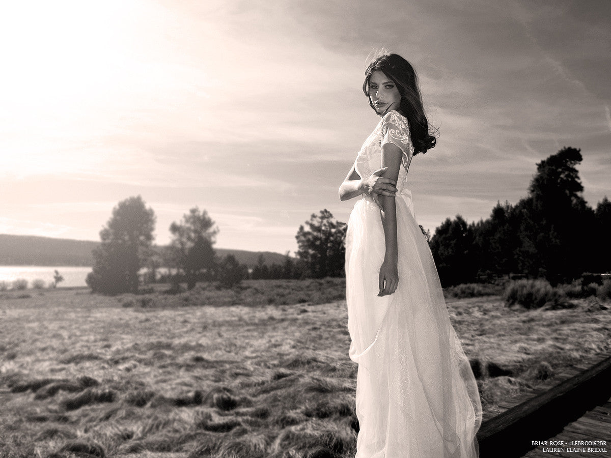 Affordable designer bridal in Los Angeles, CA. Made in the USA. Ethereal wedding dress.