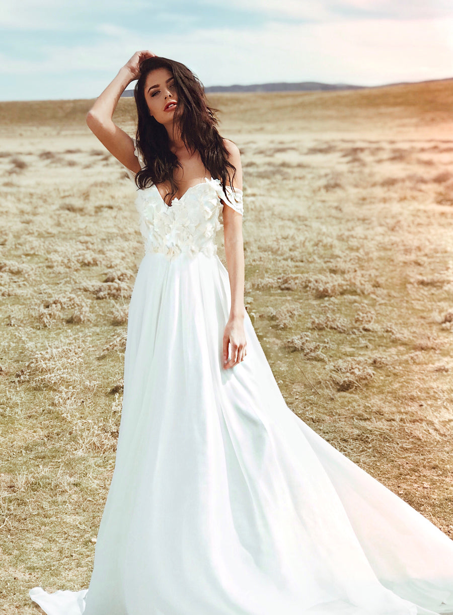 Pearl by Lauren Elaine Chrysalin Gown | 3D Lace A-Line Wedding Dress