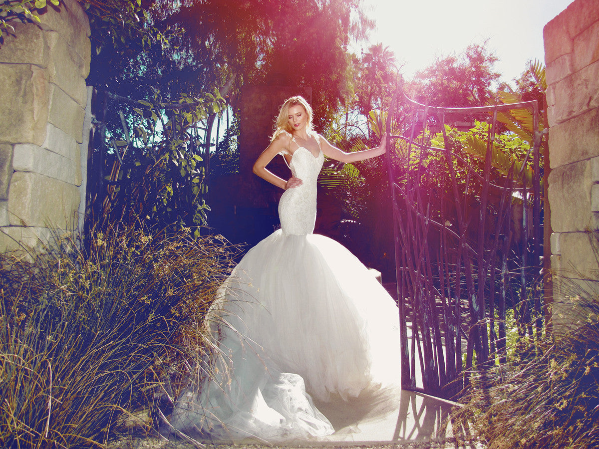 Oriana by Lauren Elaine Bridal. Mermaid wedding gown made in Los Angeles.