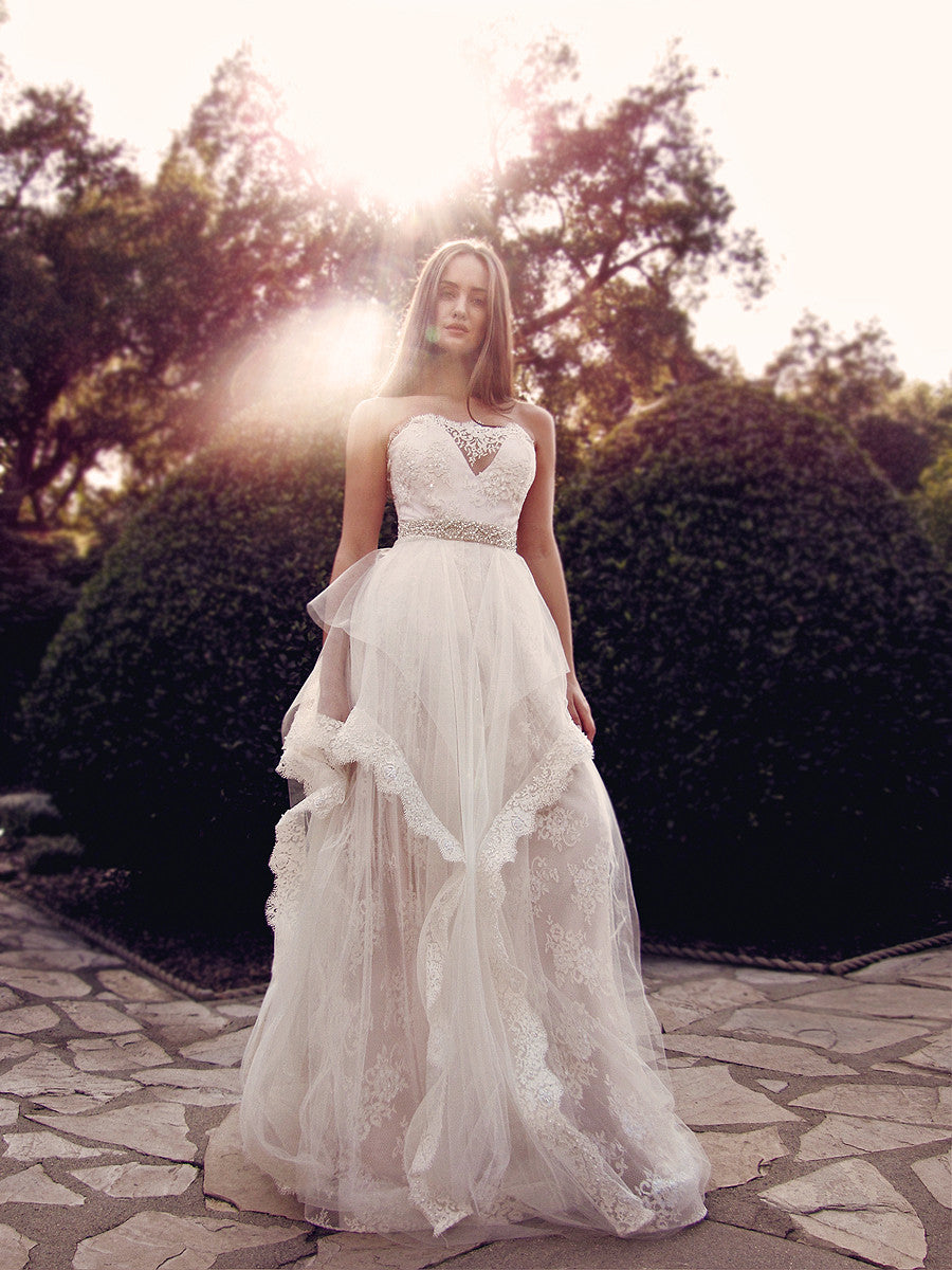 horshair hem petal vintage ball gown a line wedding dresses bridal gowns lauren elaine halcyon