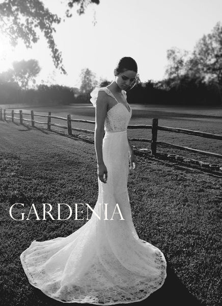 Lauren Elaine Bridal Gardenia Gown, French lace illusion gown