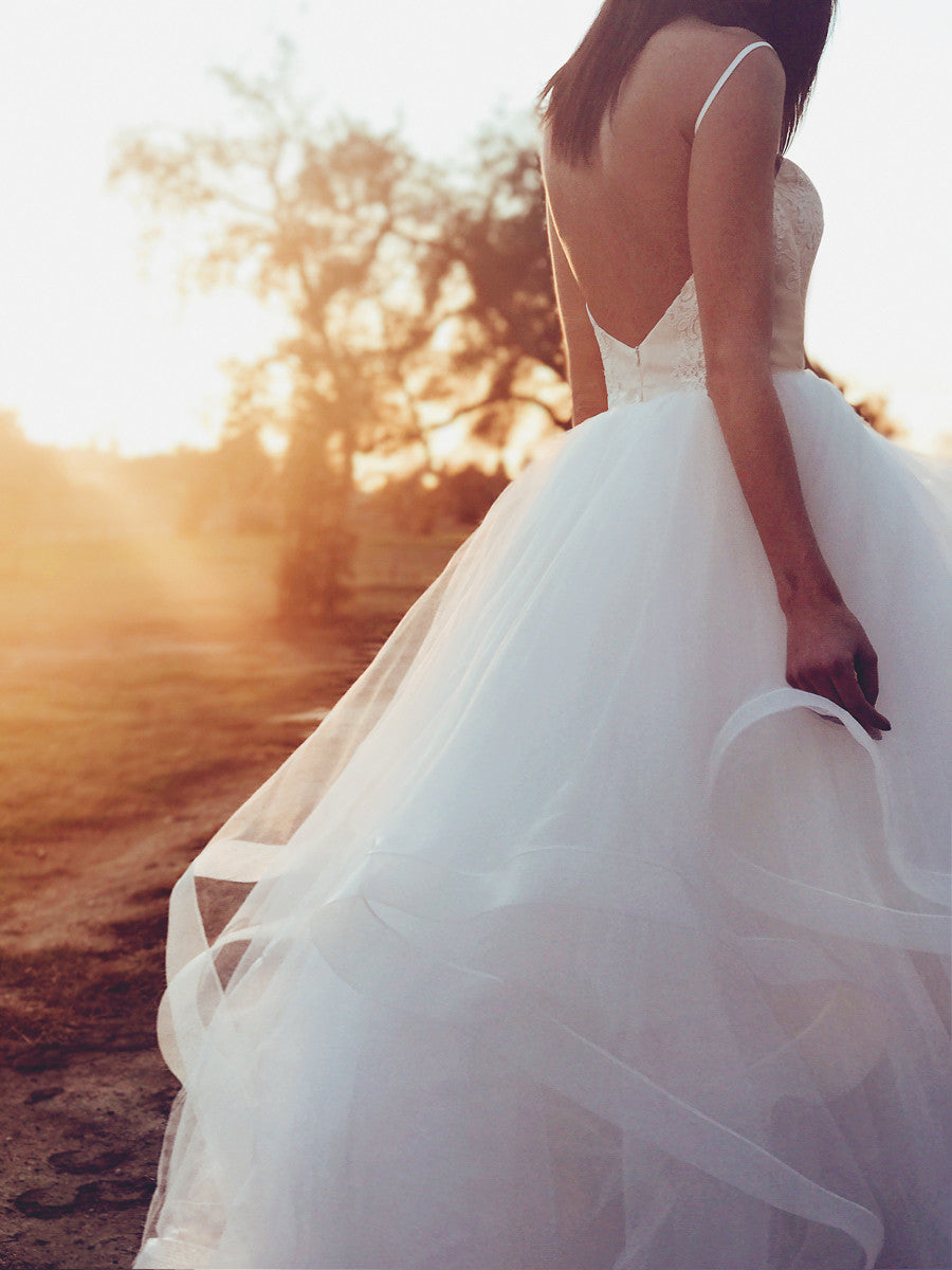 Giselle by Lauren Elaine Bridal ballerina vintage inspired wedding dress