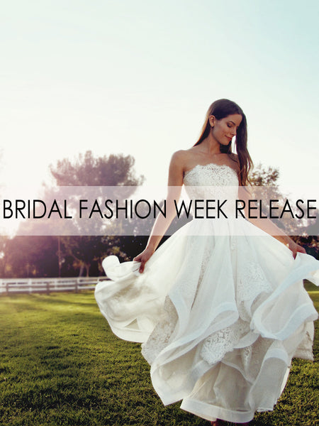 """Haven"" wedding gown by Lauren Elaine Bridal for Bridal Fashion Week Spring/Summer 2017"