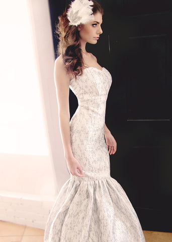 Mermaid Gown, Brocade, Strapless, Sweetheart