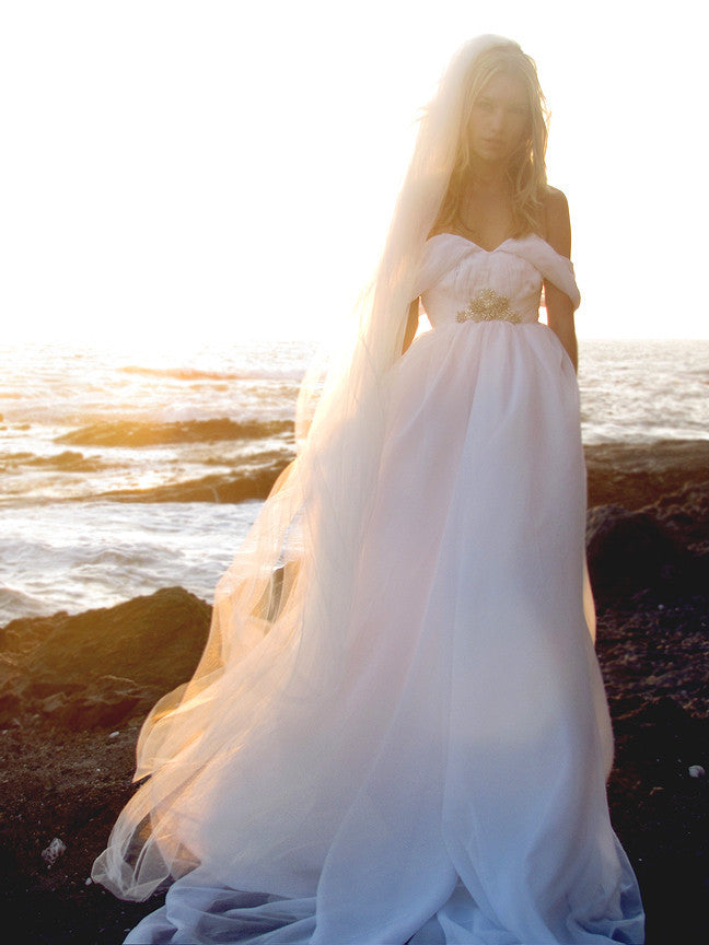 Pandora Gown by Lauren Elaine Bridal, Made in the USA