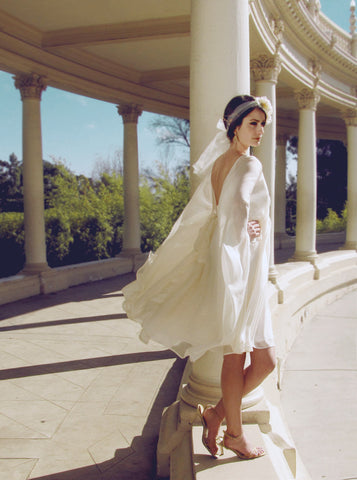 Astra Capelet dress from Lauren Elaine Bridal