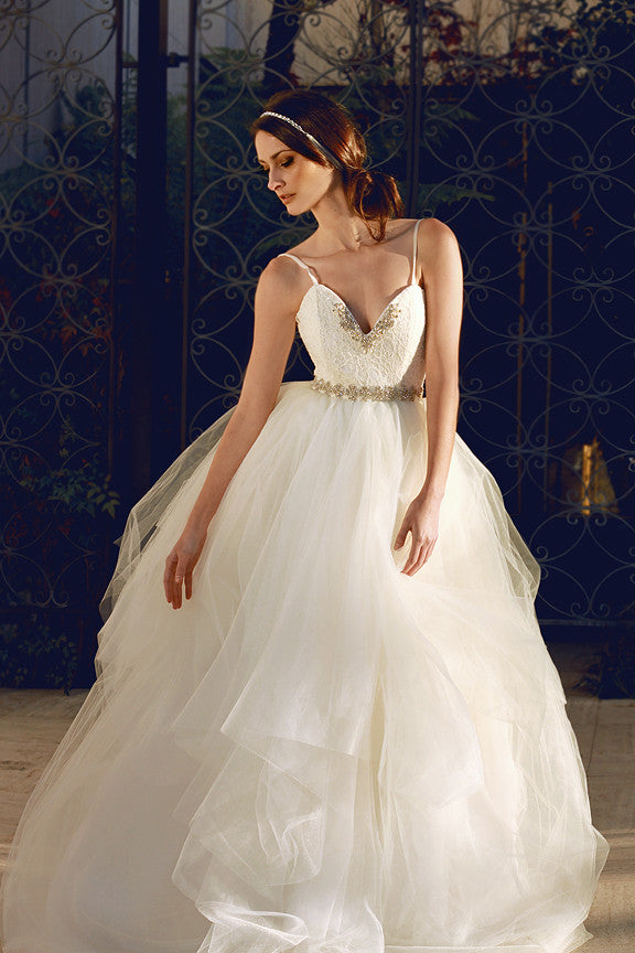 Bellara gown by Lauren Elaine Bridal, made in the USA