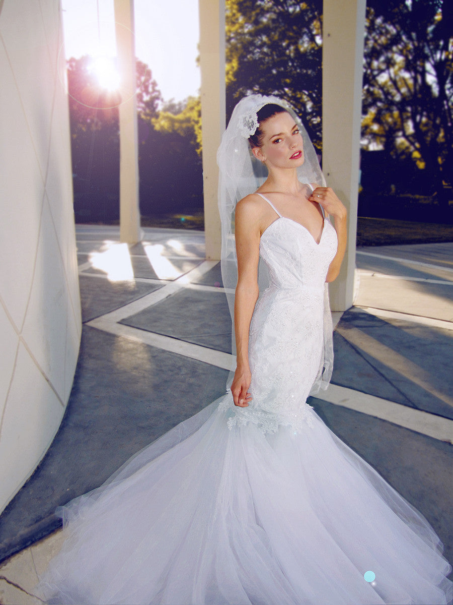 Anastasia by Lauren Elaine. Made in the USA. Glamorous vintage bridal gowns.