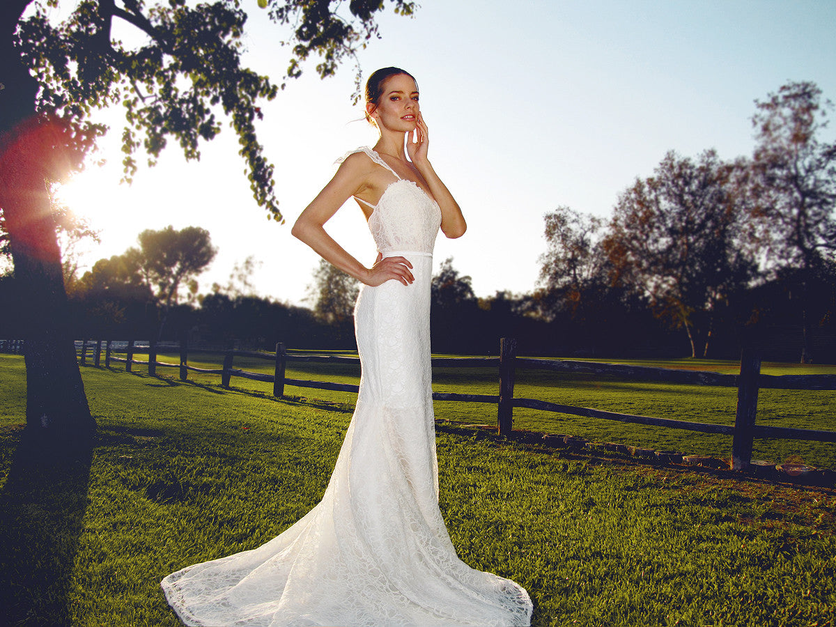 Gardenia gown by Lauren Elaine Bridal, Made in the USA