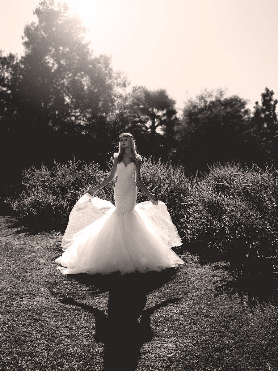 Fairytale wedding dress by Lauren Elaine Bridal. Made in the USA. Los Angeles Bridal Designer