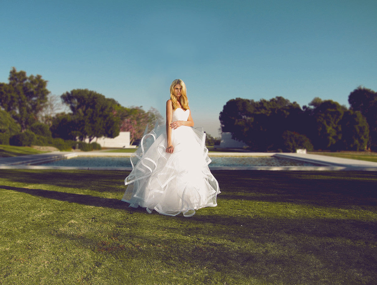 Fairytale tulle wedding gown from Lauren Elaine Bridal, affordable bridal