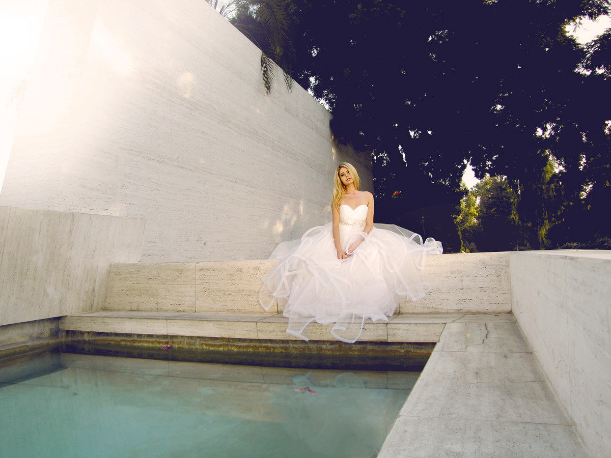The Lotus gown by Lauren Elaine, Made in the USA, princess bridal gowns