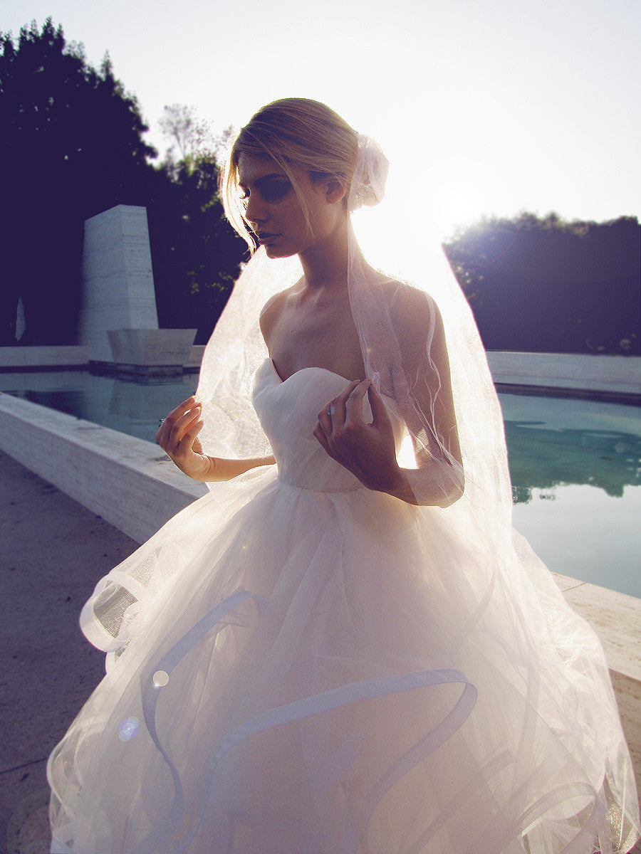 Princess tulle bridal gown, available in blush, champagne, ivory and white