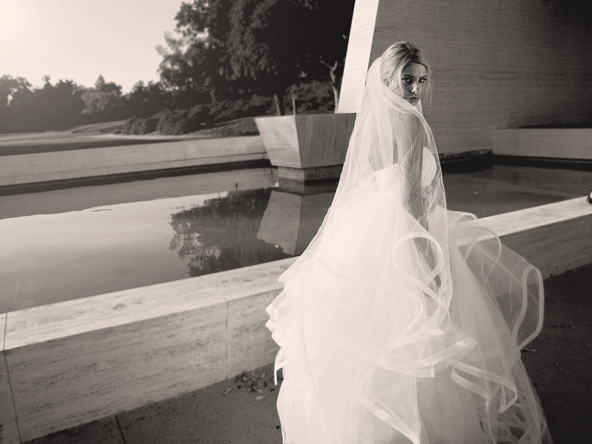 Modern wedding gown, tulle and horsehair, ethereal, bohemian bridal