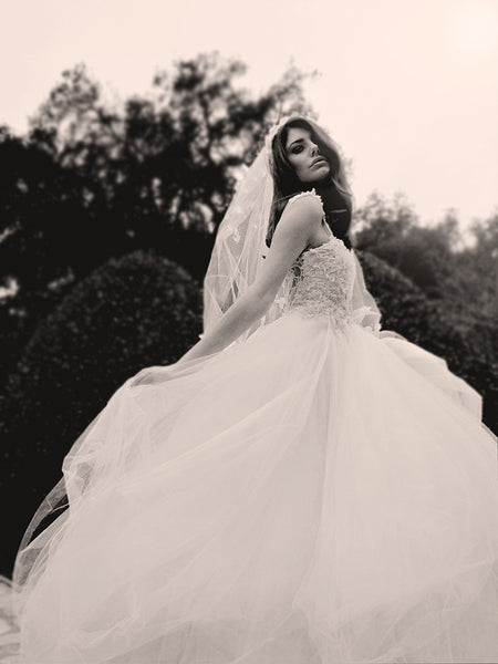 Monarch Gown by Lauren Elaine Bridal, Illusion Lace & Tulle  Ball Gown