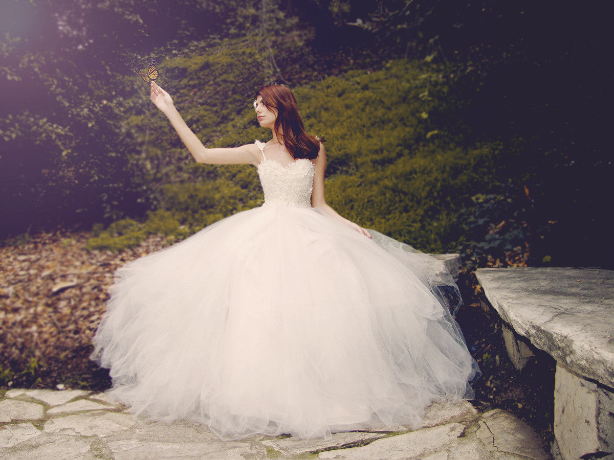 Ethereal, fairytale wedding dress by Lauren Elaine Bridal. Princess ball gown.